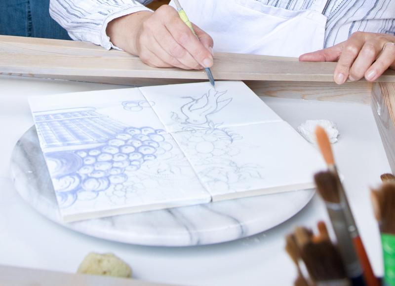 ein blick in die werkstatt fliesenmanufaktur delfter. Black Bedroom Furniture Sets. Home Design Ideas
